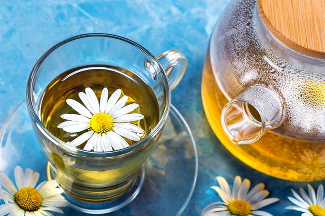 photo of chamomile tea