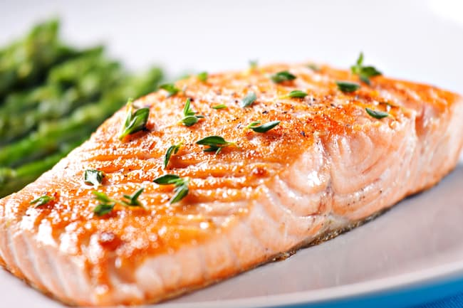 photo of cooked salmon filet
