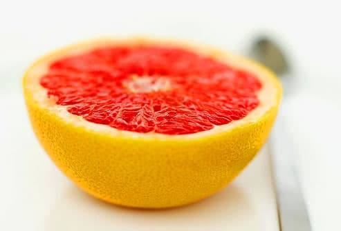Grapefruit half with spoon
