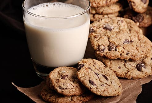 soy milk and cookies