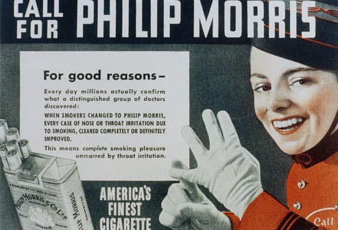 Old Phillip Morris Cigarette Advertisement