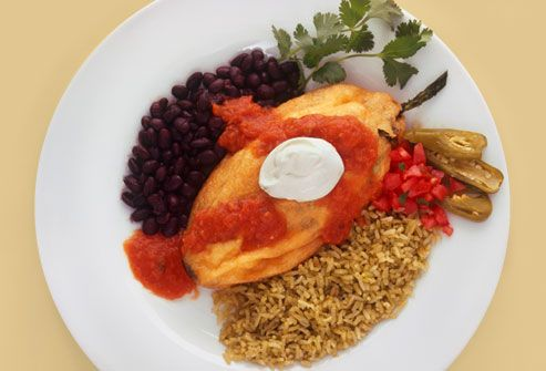 Chili Rellno with Black Beans and Rice