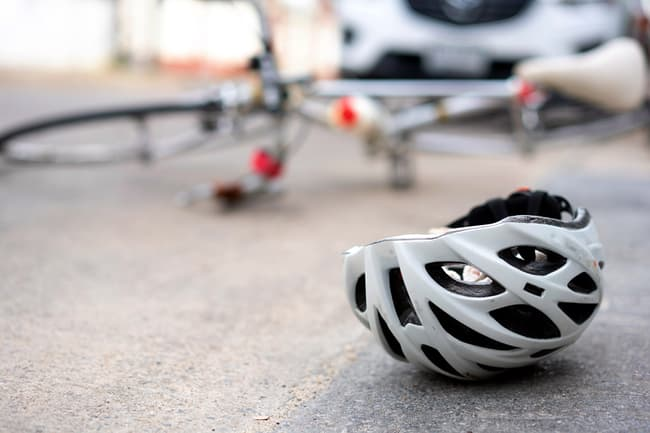 photo of bicycle accident