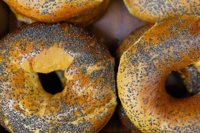 photo of poppy seed bagels