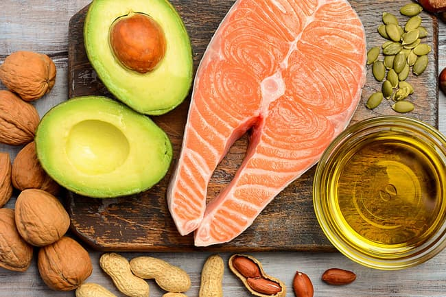 photo of healthy fat food