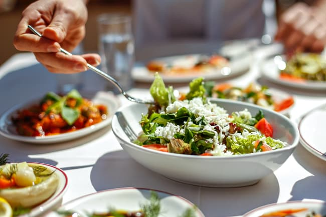 photo of salad on table