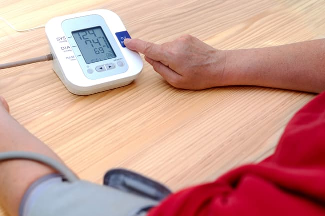photo of blood pressure check