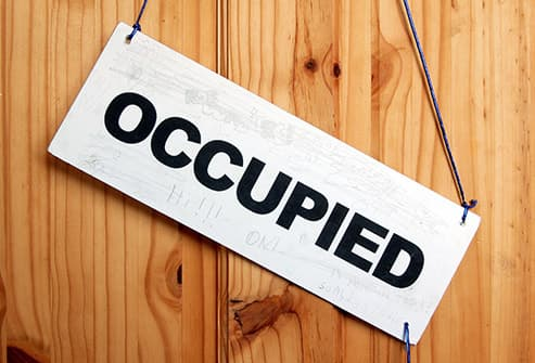 occupied sign