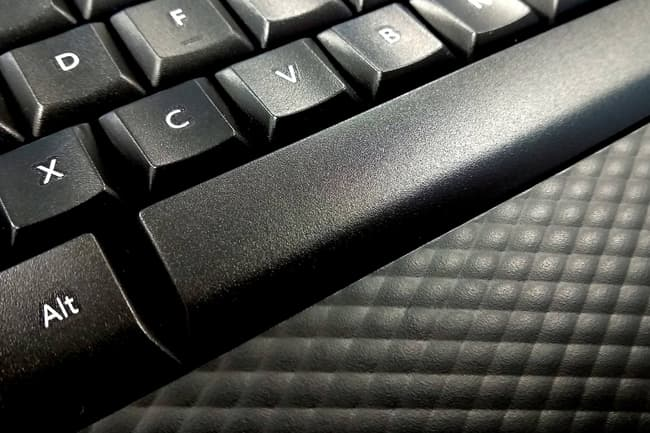 photo of keyboard wrist rest close up