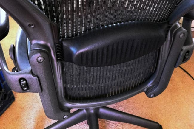 photo of office chair lumbar support