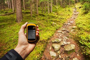 photo of gps used for geocaching