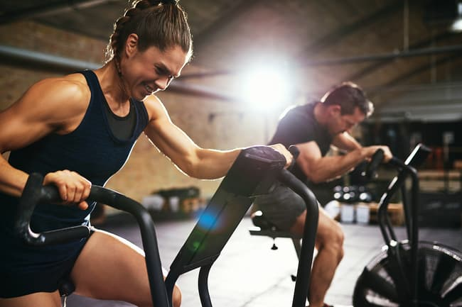 photo of two people doing high intensity workout