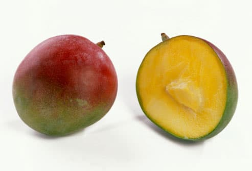how to cut around a mango seed