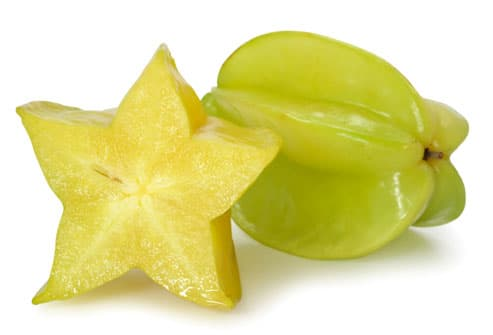 Carambola (star fruit) with cross-section