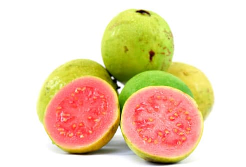 Guavas with cross-sections