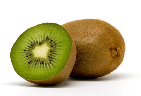 Kiwi fruit with cross-section