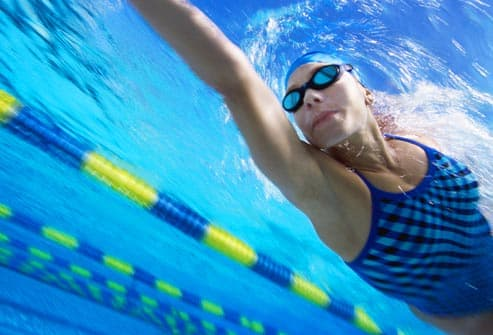 swimmer with goggles