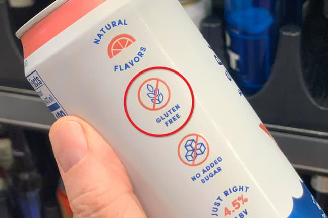 photo of hard seltzer can label