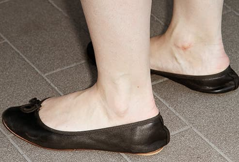 woman in flat shoes