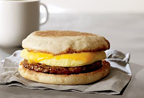 starbucks sausage cheddar breakfast