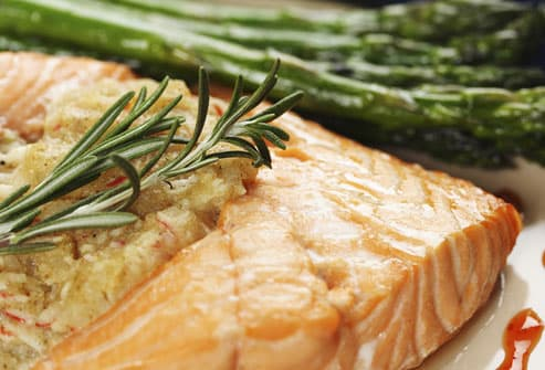 Salmon Steak With Asparagus