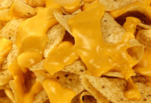 Corn chips loaded with nacho cheese