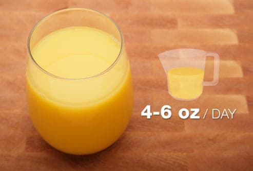 full glass of orange juice