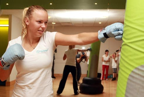 woman in boxercise class