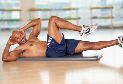 Pictures of the Best Flat-Abs Moves for Men