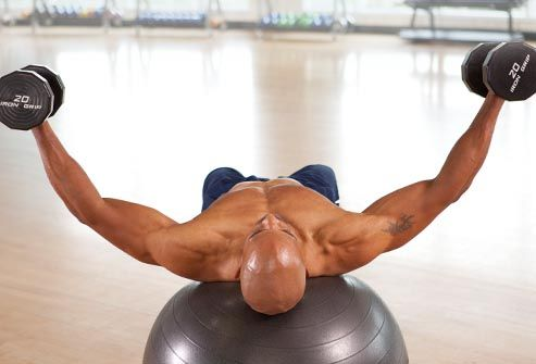 man doing dumbbell fly