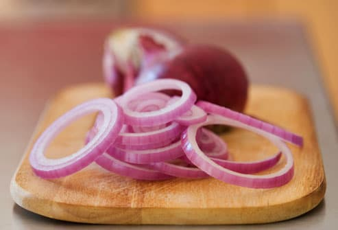 Slices of Red Onion