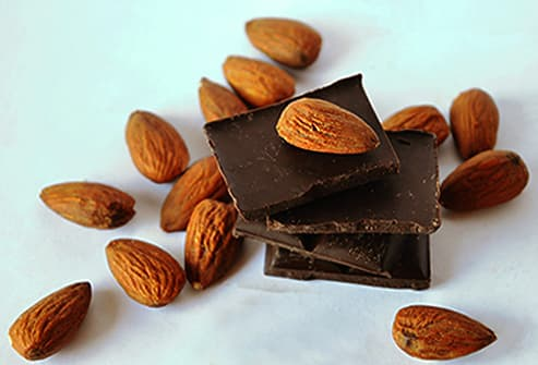 dark chocolate almonds