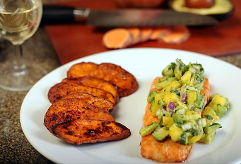 Salmon and Sweet Potatoes