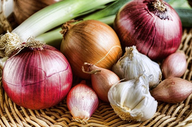 photo of onions and garlic
