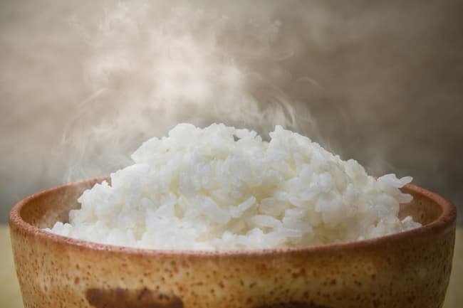 photo of steamed rice