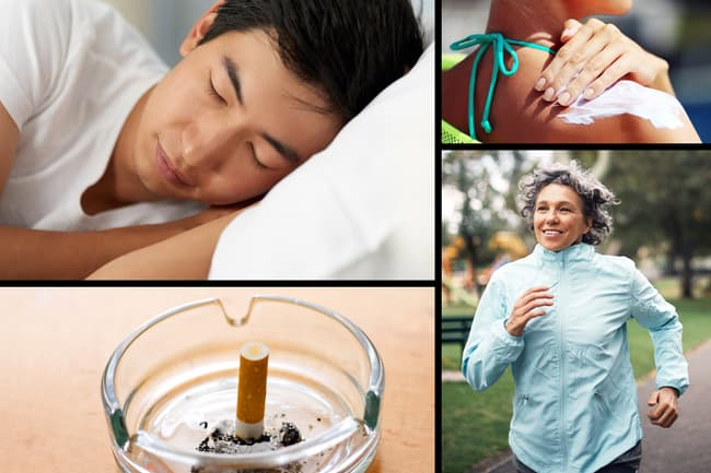 photo of four healthy skin habits