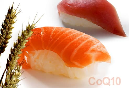 Salmon, tuna and whole wheat: CoQ10