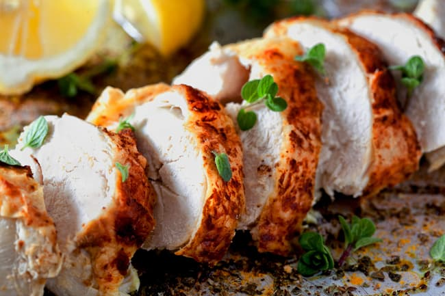 photo of baked chicken breast