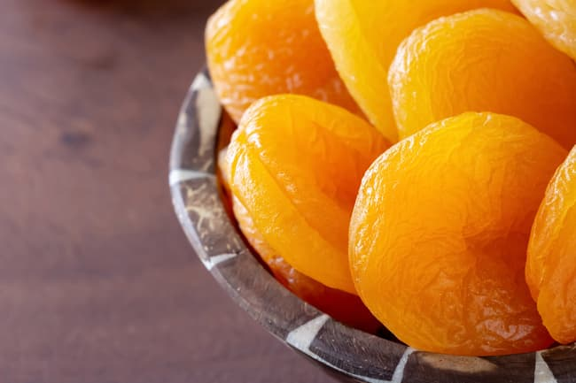photo of dried apricots
