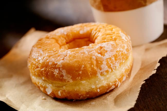 photo of coffee and donut