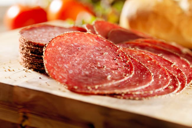 photo of pepperoni slices