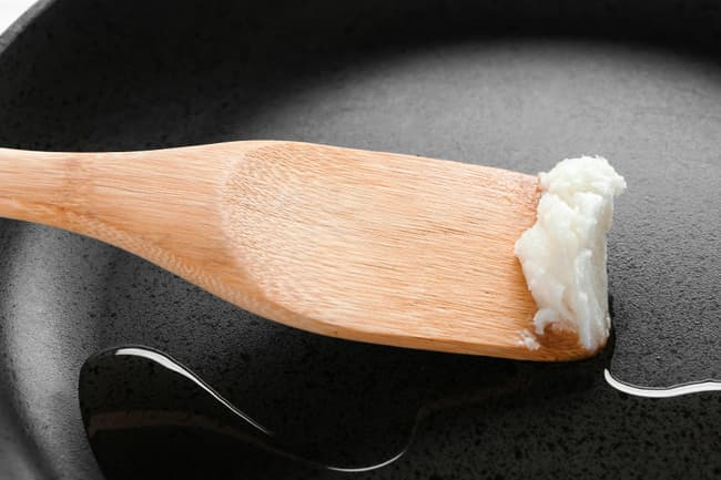 photo of coconut oil in pan
