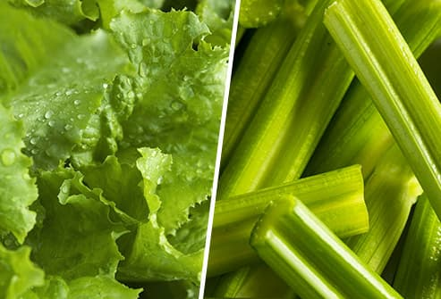 lettuce and celery diptych