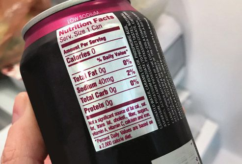 label on diet soda can