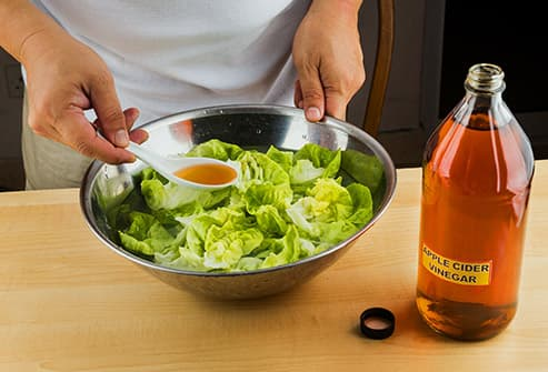 vinegar and salad