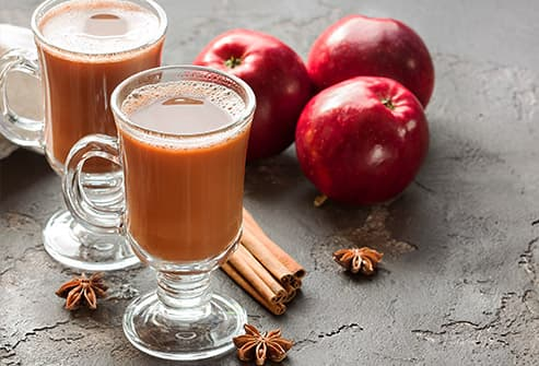 apple cider latte