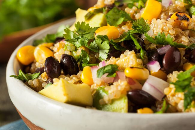 photo of quinoa mexican bowl