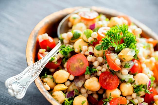 photo of salad with chickpeas