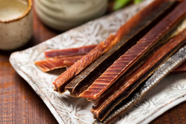 photo of salmon jerky