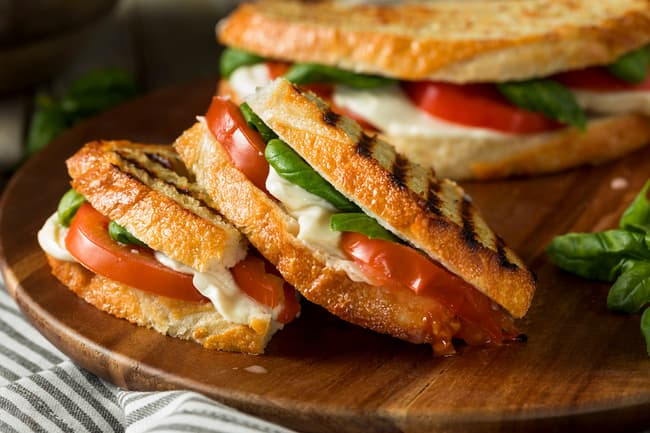 photo of tomato sandwich